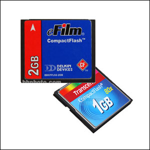 CompactFlash (CF) Cards for Treestand Cameras
