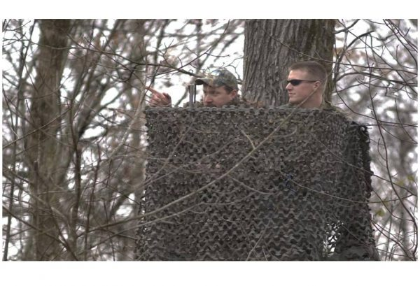 "Two Man Ladder Leafcut Hunting Blind Cover (8' x 57"")"